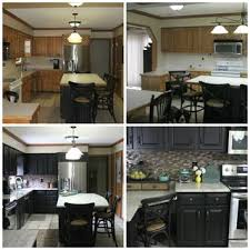 painted black kitchen cabinets before and after kitchen paint kitchen cabinets white elegant painted black before
