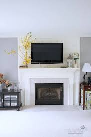 a solution to mount the tv above the fireplace without having to cut drywall
