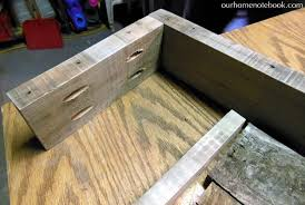 building a rustic wood centerpiece box our home notebook