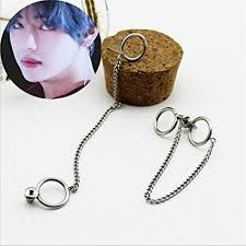 bts earrings amazon com bkpearl 1pcs bts bangtan boys album v dna stud earrings