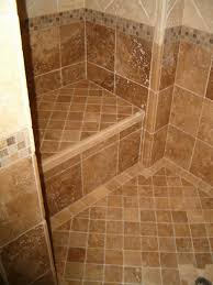 Shower Floor Mosaic Tiles by Bathroom Fetching Ideas For Bathroom Decoration Using Light Brown