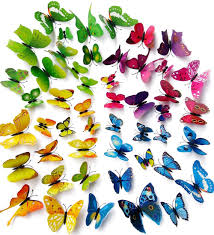 wall decal butterfly 48pcs 3d butterfly stickers with