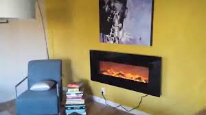 Wall Mount Fireplaces In Bedroom Touchstone Onyx 50 Electric Wall Mounted Fireplace Review Youtube