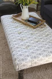 Coffee Table Cloth by Diy Tufted Fabric Ottoman From An Old Table Make It And