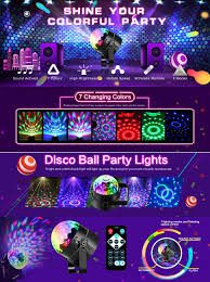 Party Lighting Amazon Com Disco Ball Led Party Dj Lights With Remote Control Rbg