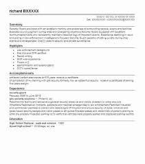 sample resume of security guard security guard resume sample