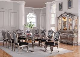 How To Set A Formal Dining Room Table Furniture Chantelle Formal Dining Room Set In Platinum