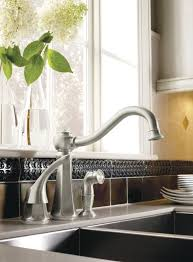 classic kitchen faucets moen 7065csl vestige single handle kitchen faucet with side spray