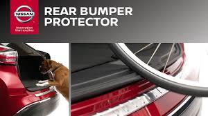 nissan rogue rear bumper rear bumper protector genuine nissan accessories youtube
