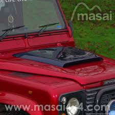 red land rover defender masai sport bonnet scoop for land rover defender grp
