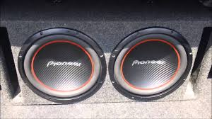 pioneer photo box subwoofer 2 12 inch pioneer ts w304r subwoofers
