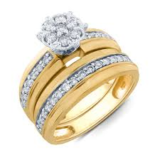 Kmart Wedding Rings by Tradition Diamond 10k Yellow Gold 1 2 Cttw Certified Diamond