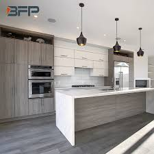 two tone kitchen cabinets and island china canadian style two tone color light grey oak and white