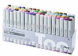 copic sketch generation 2 marker pen twin tips 72 colors set e in