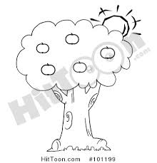 apple tree coloring pages apple tree clipart 101199 coloring page outline of the sun