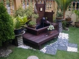 outdoor garden water fountain statue landscape patio deck outdoor