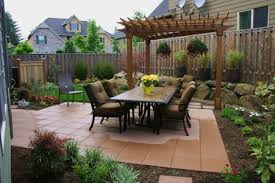 Patio Landscape Design Ideas by Delectable Design Ideas Of Backyard Landscape With Stone Bricks