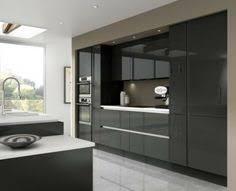 High Gloss Black Kitchen Cabinets Amazing Black Kitchen On Kitchen With Black High Gloss Kitchen