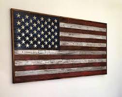wood american flag etsy
