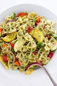 20 minute rainbow veggie pasta salad baker by nature