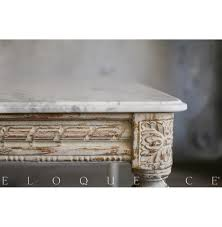 Marble Entry Table Eloquence Contessa Entry Table In Chipped White Kathy Kuo Home