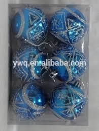 korean decorations blue ornament 6cm 6pcs