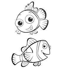 cartoons coloring pages nemo dory coloring pages