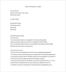 notice of resignation u2013 9 free word excel pdf format download