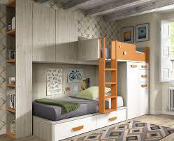 lit superpose bureau chambre ado avec lit superposé chambres modernes meubles ros