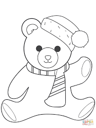 peachy design teddy bear color pages with a flower free