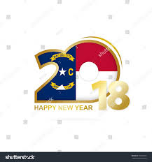 North Carolina Flag Year 2018 North Carolina Flag Pattern Stock Vector 739392532