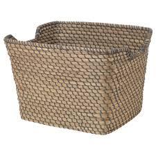 Wicker Laundry Basket With Lid Ikea åsunden Basket Dark Grey 30x36x25 Cm Ikea