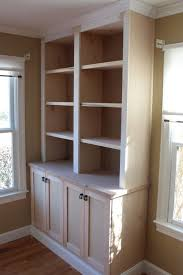 Built In Bookcase Kits Diy Built Ins Bookcase With Base Cabinets From The Big Box Store