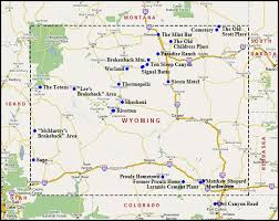 map of wyoming map of wyoming u s a