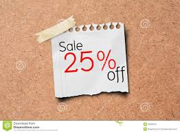 sale sign paper label stock image image of memo 23859915