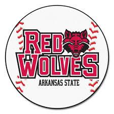 Baseball Area Rug Arkansas State Wolves Grand Slam Baseball Area Rug Slammed
