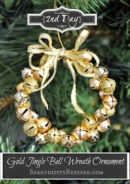 easy gold jingle bell wreath ornament day 2 serendipity refined