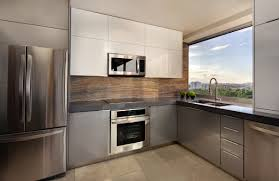 metallic kitchen cabinets classy kitchen design horcasitas apartment apartment design