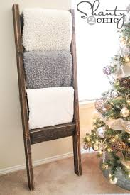 Diy Wood Rack Plans by 10 Wooden Blanket Ladder Shanty 2 Chic