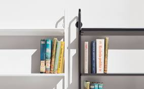 Lighting For Top Of Bookcases Hitch Ladder Bookcase Modern Bookcases Blu Dot