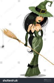 Vector Halloween Costume Halloween Witch Vector Illustration Stock Vector 85539838