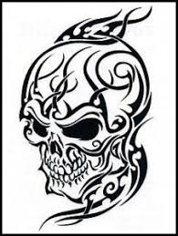 collection of 25 skull tribal design