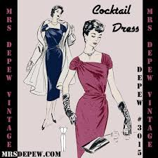 French Cocktail Party - vintage sewing pattern 1950 u0027s french cocktail party dress