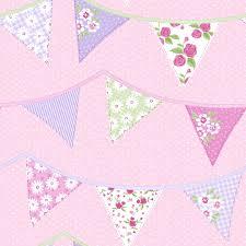 Polka Dot Wallpaper Blue White Pink Green 238709 Bunting Polka Dot Shabby Chic Rasch
