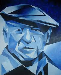 Monochromatic - artist pablo picasso this is a monochromatic painting m