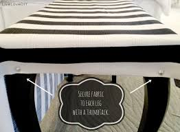 How To Make Bench Cushions Easy Livelovediy Diy Striped Upholstered Bench