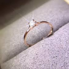 real wedding rings images 18k gold female diamond ring rose gold natural south africa real jpg