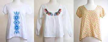 s blouse patterns diy peasant blouse kit paper patterns a embroidered