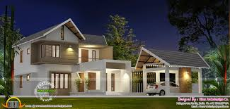 kerala style house separate garage indian plans building plans