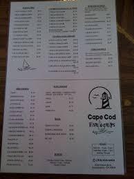 cape cod fish u0026 chips menu urbanspoon zomato